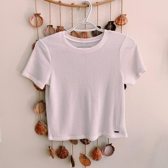 Hollister Tops - Hollister Waffle Crop Baby T-shirt